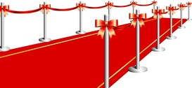 Vector Red Carpet Curtain