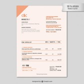 Invoice template editable