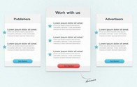 Clean Pricing Table Comparison Interface PSD