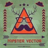 Hipster vector template