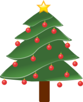Lightly Decorated Evergreen