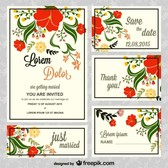 Vector floral wedding cared free for download