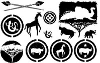 Free Africa Silhouette Vector Pack