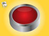 Grey Rim Red 3D Button
