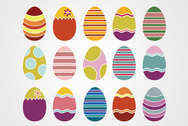 Easter Eggs Vector Set (Free)