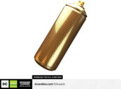 Gold Spray Can Render PSD