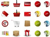 Shopping Vektor Icon Set