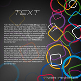 Colorful Rings Template
