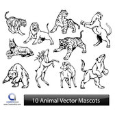 ANIMAL VECTOR MASCOTS.eps