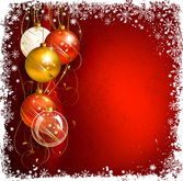 Beautiful Christmas balls background 03