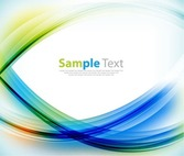 Abstract Background with Colorful Curves