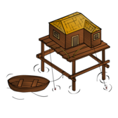 RPG map symbols: Fishery