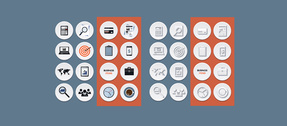 Cercle 16 affaires plat Style Icons Pack