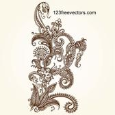 INTRICATE HAND-DRAWN FLORAL ELEMENT.ai
