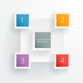 Minimal 5 Squares Colorful Rectangle Infographic