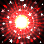 light wave with glowing red stars PSD