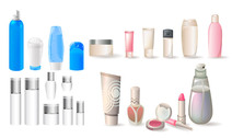 Variety Of Cosmetic Bottles