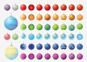 Vector Christmas Balls Collection