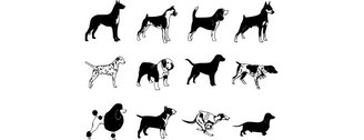 Free Vector Dogs