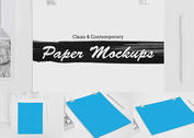 Clean and Contemporary Paper PSD Mockups