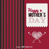 Mother's day heart love is strong card