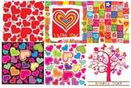 All About Hearts Abstract Vector Backgrounds