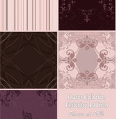 5 Romantic Collection PSD Patterns Set