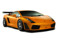Orange Lamborghini PSD