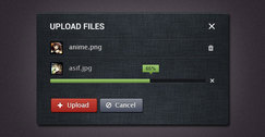 Upload widget PSD