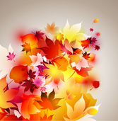 Glowing Autumn Leaves Background