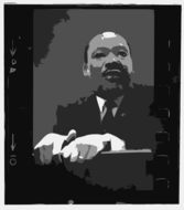 Martin Luther King, Jr at pulpit
