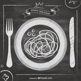 Blackboard vector Italian food menu