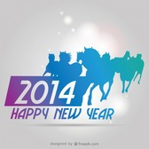 2014 Background New Year Zodiacal Sign