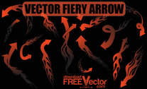 Free Vector Fiery Arrow