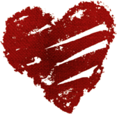 Scratched Up Heart PSD