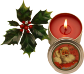 Candle w/ Holly PSD