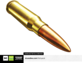 Isolated Bullet Render DesignerCandies PSD