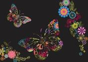 Flowers And Butterflies Background