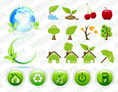 More green theme icons
