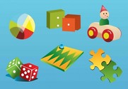 Vintage Toy Vector Collection Set