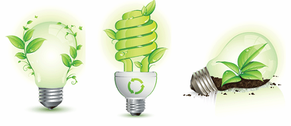 Green Leaf and Energy-Saving Lamps
