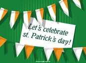 St Patrick's card invitation