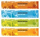 Four color Vector Grunge Banners