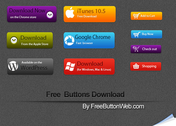 Free Button Download PSD