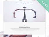 Bicycle - Flat HTML5 CSS3 template