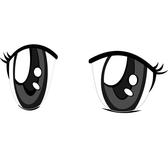 ANIME EYES VECTOR IMAGE.eps
