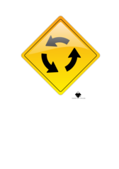 circular intersection warning