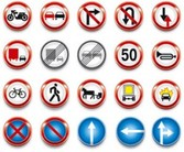 Stock Ilustration Traffic Signs1#Icons
