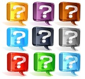 Colorful Question Mark Vector Set