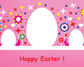 Happy Easter Pink Card Design